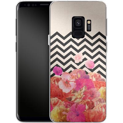 Samsung Galaxy S9 Silikon Handyhuelle - Chevron Flora II von Bianca Green