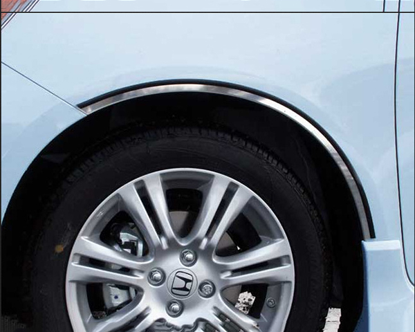 Quality Automotive Accessories 4-Piece Stainless Steel Wheel Well Fender Trim Kit Honda Fit 2009