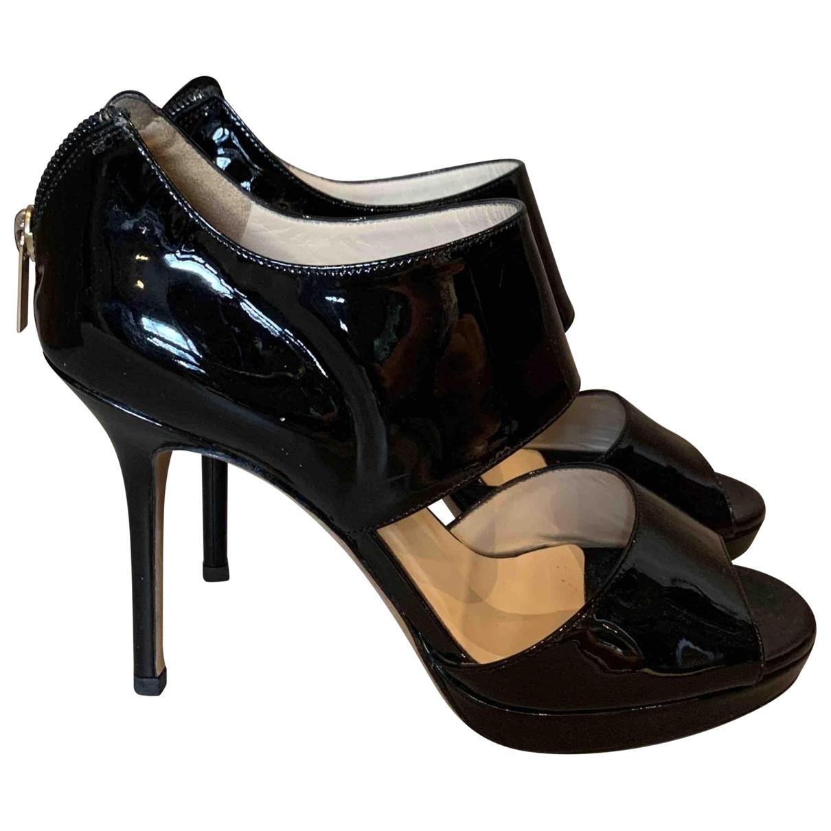 Jimmy Choo - Escarpins   pour femme en cuir verni - noir