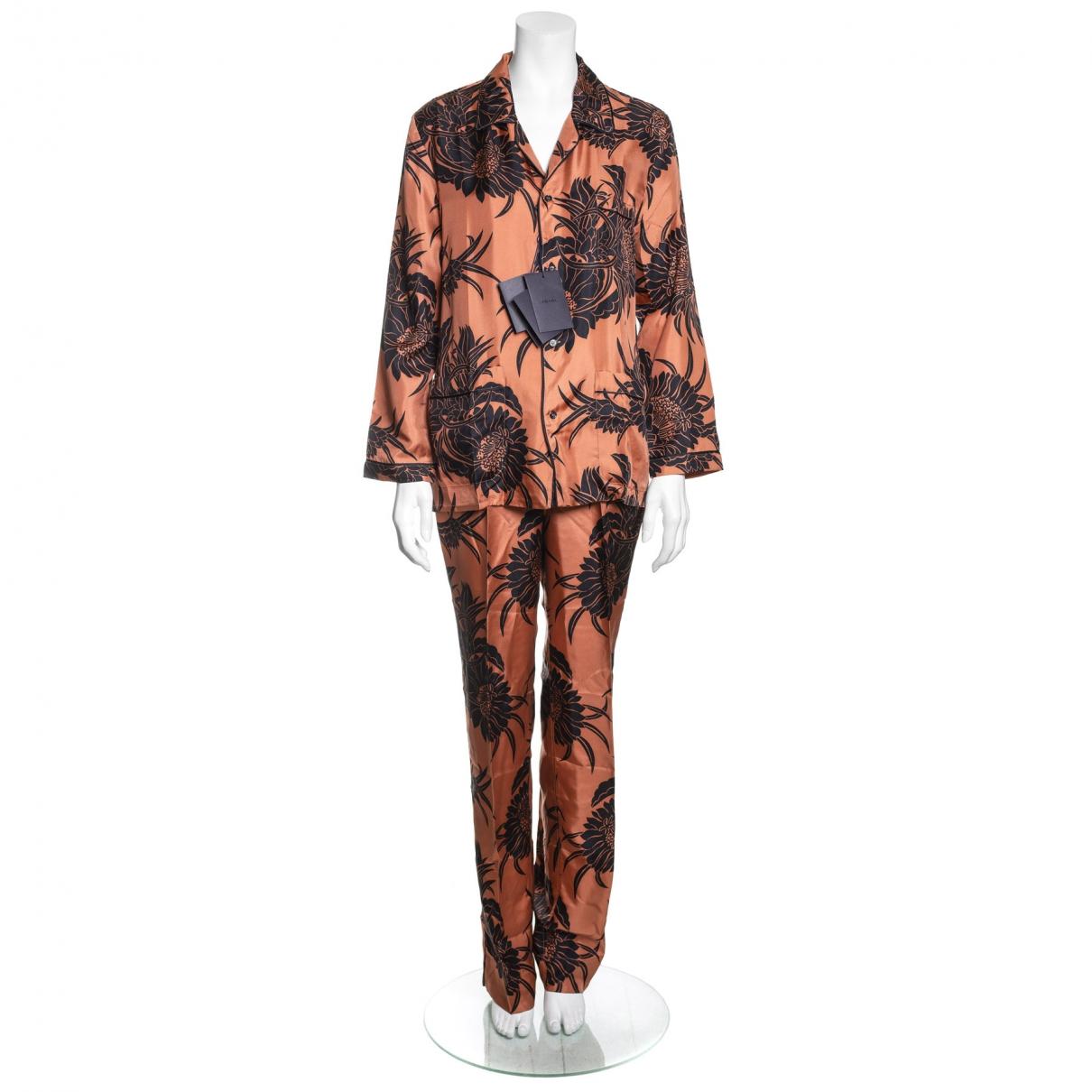 Prada \N Multicolour Silk Trousers for Women L International
