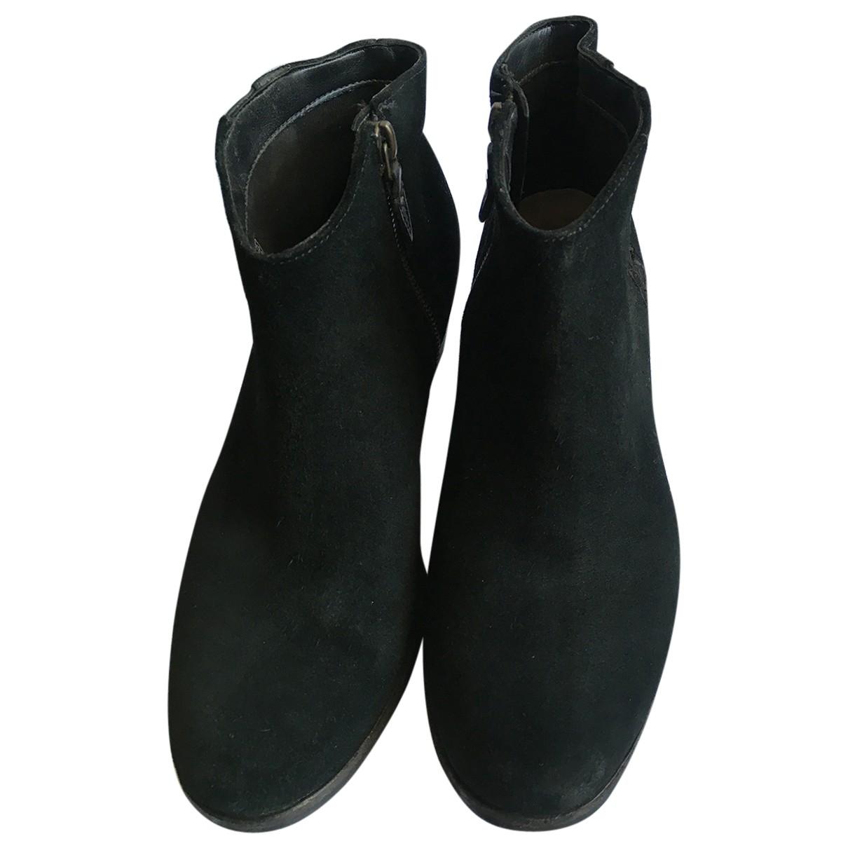 Clarks - Boots   pour femme en cuir - noir