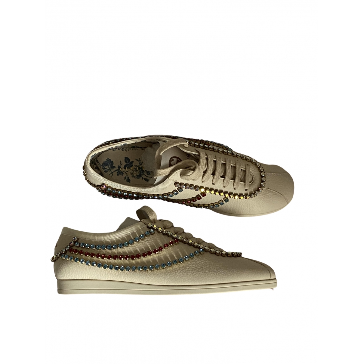 Gucci Falacer Sneakers in  Weiss Leder