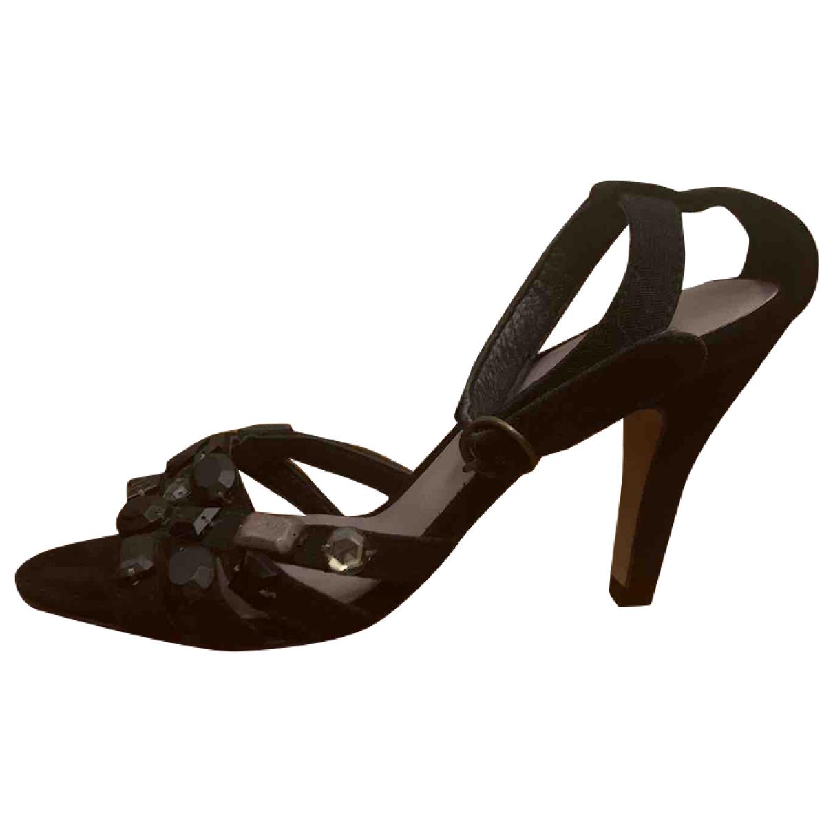 Maliparmi - Sandales   pour femme en a paillettes - noir
