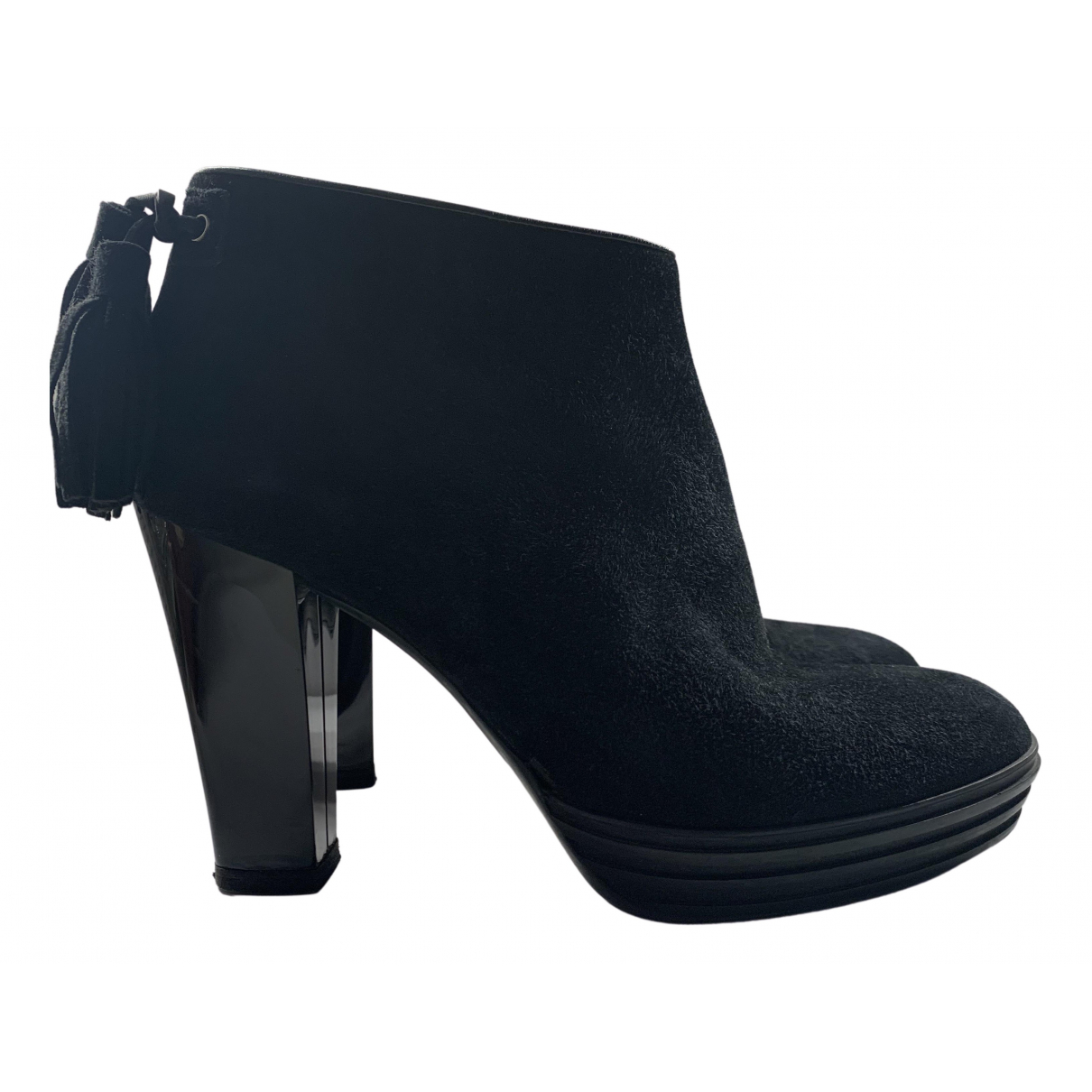 Hogan N Black Suede Ankle boots for Women 39 EU