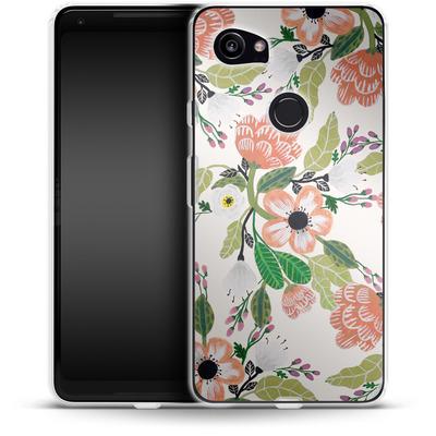 Google Pixel 2 XL Silikon Handyhuelle - Botanical Dream von Iisa Monttinen