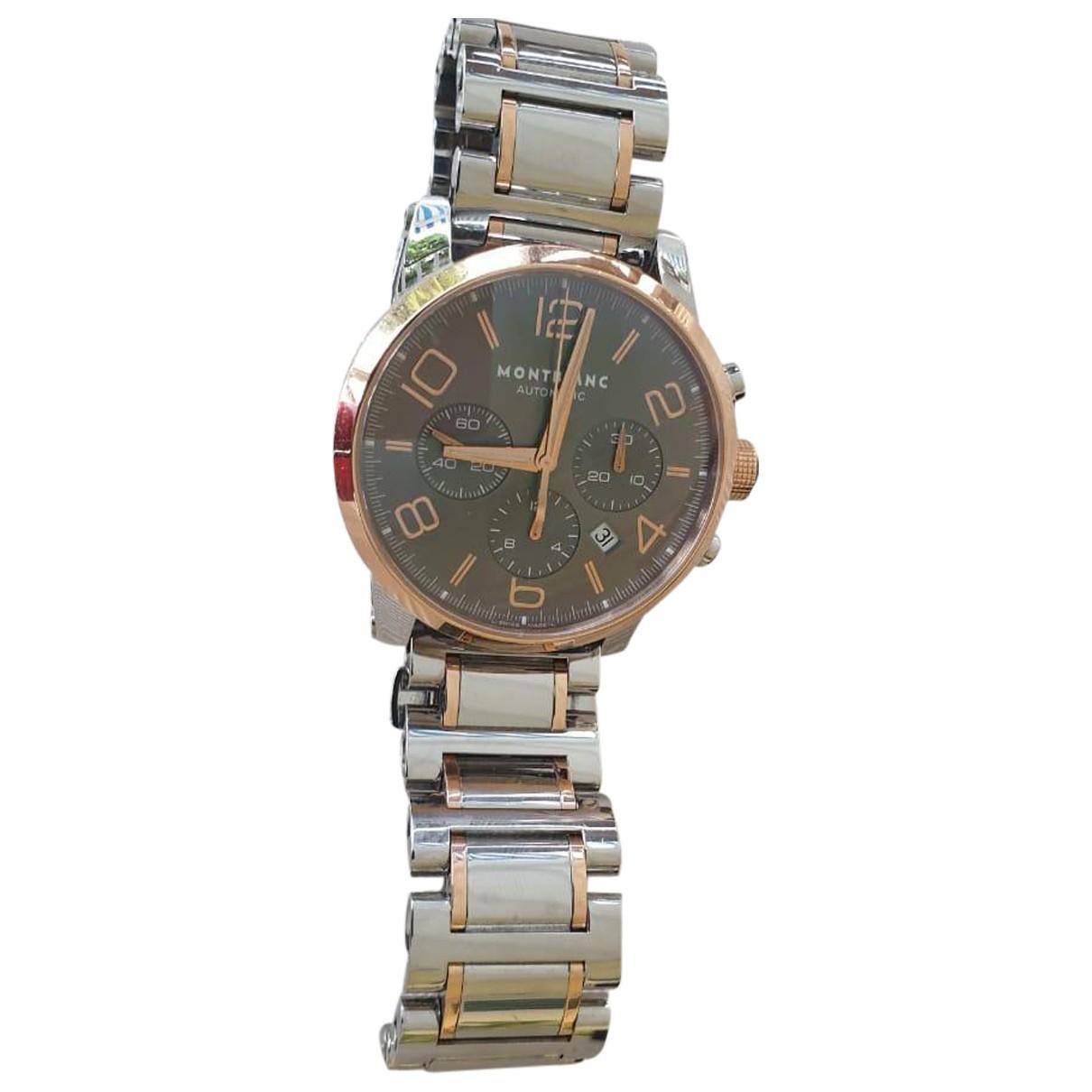 Montblanc Timewalker Uhr in  Silber Gold und Stahl