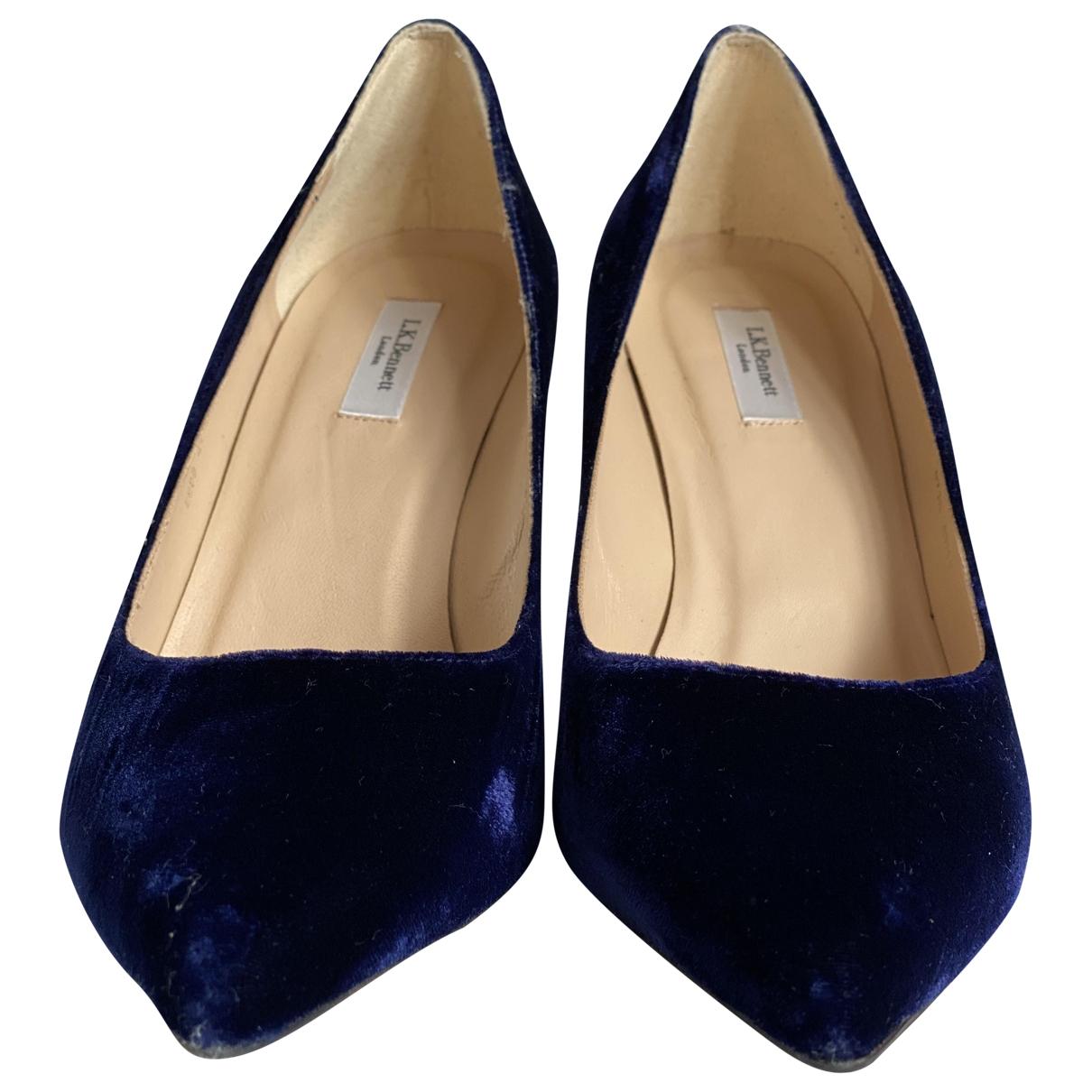 Lk Bennett \N Blue Velvet Heels for Women 41 EU