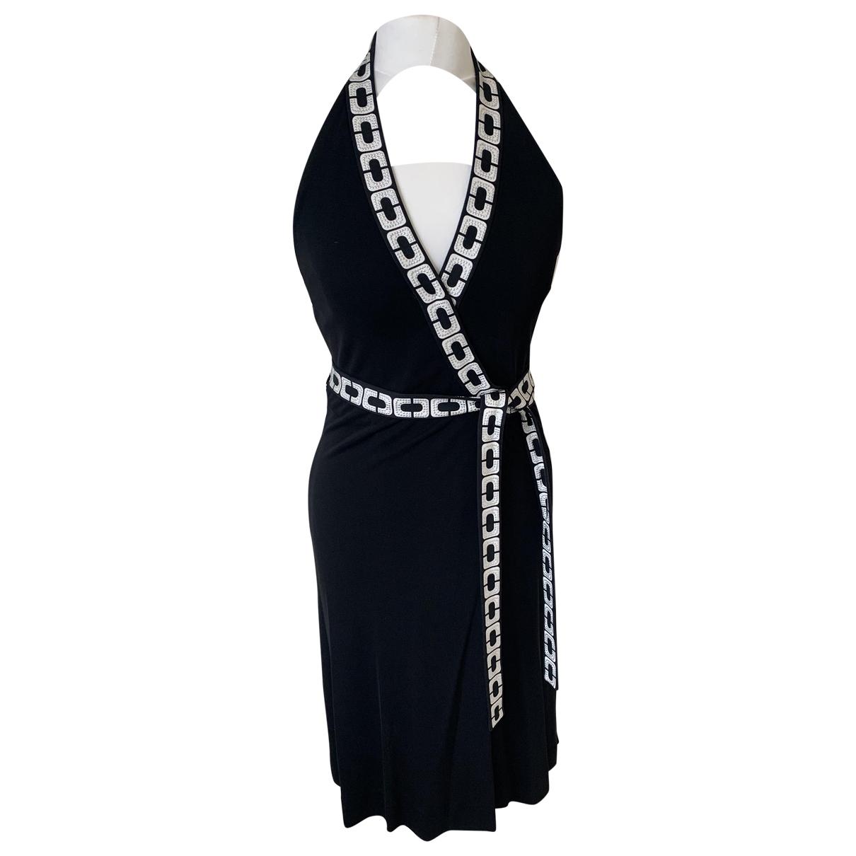 Diane Von Furstenberg \N Kleid in  Schwarz Baumwolle - Elasthan