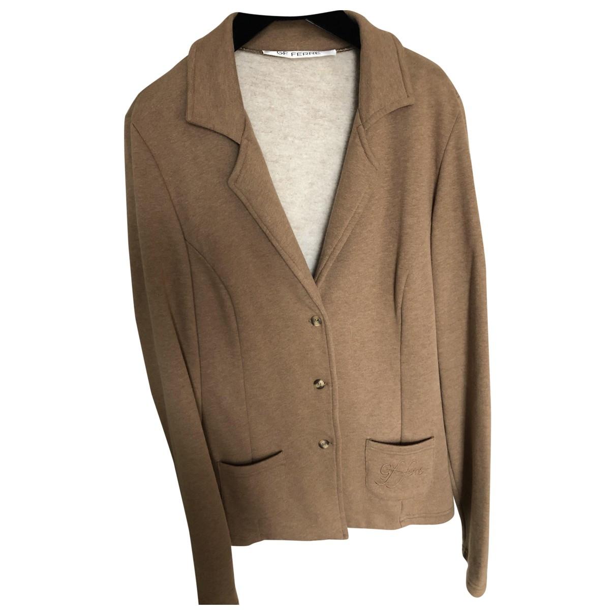 Gianfranco Ferré \N Camel Cotton jacket for Women L International
