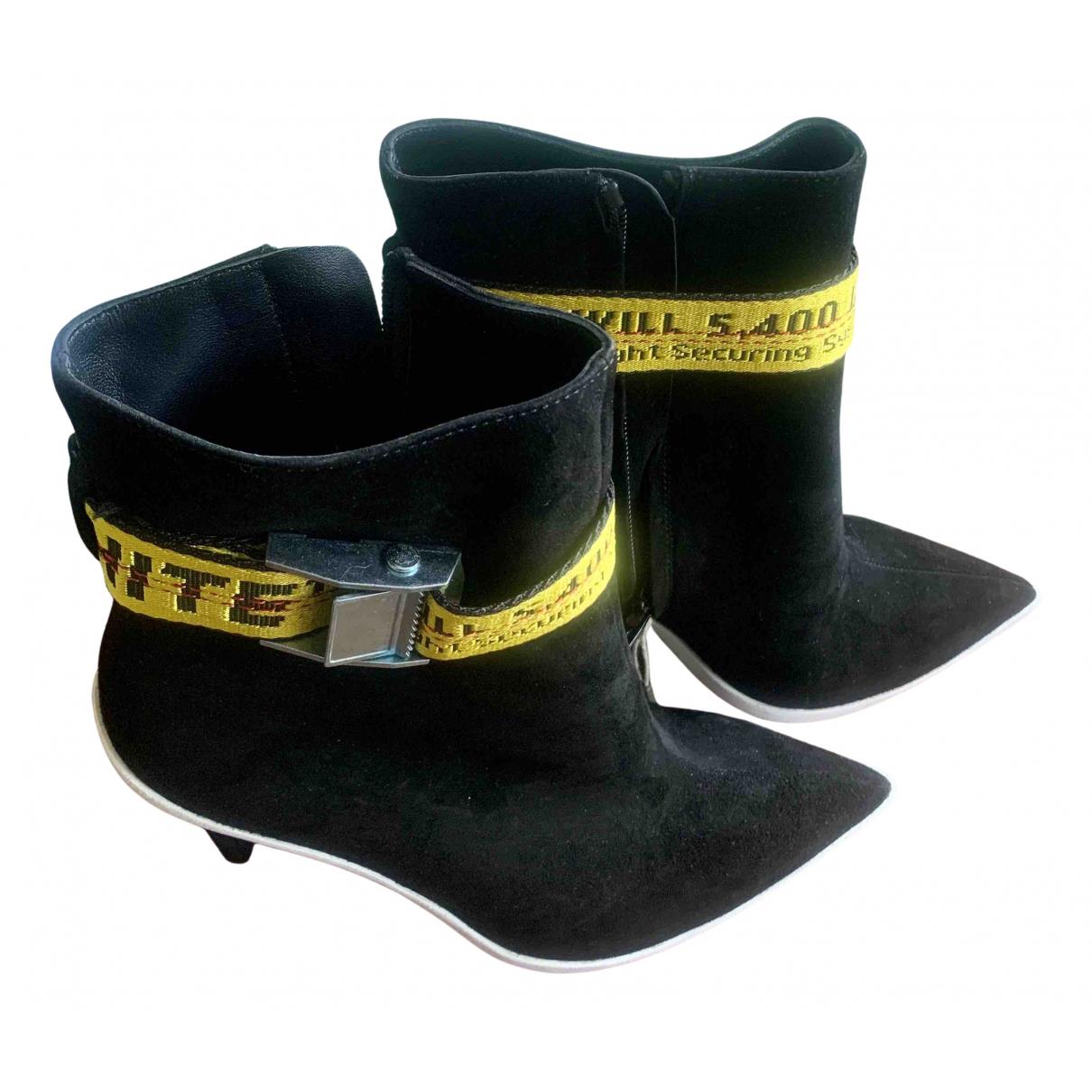 Off-white - Boots   pour femme en suede - noir