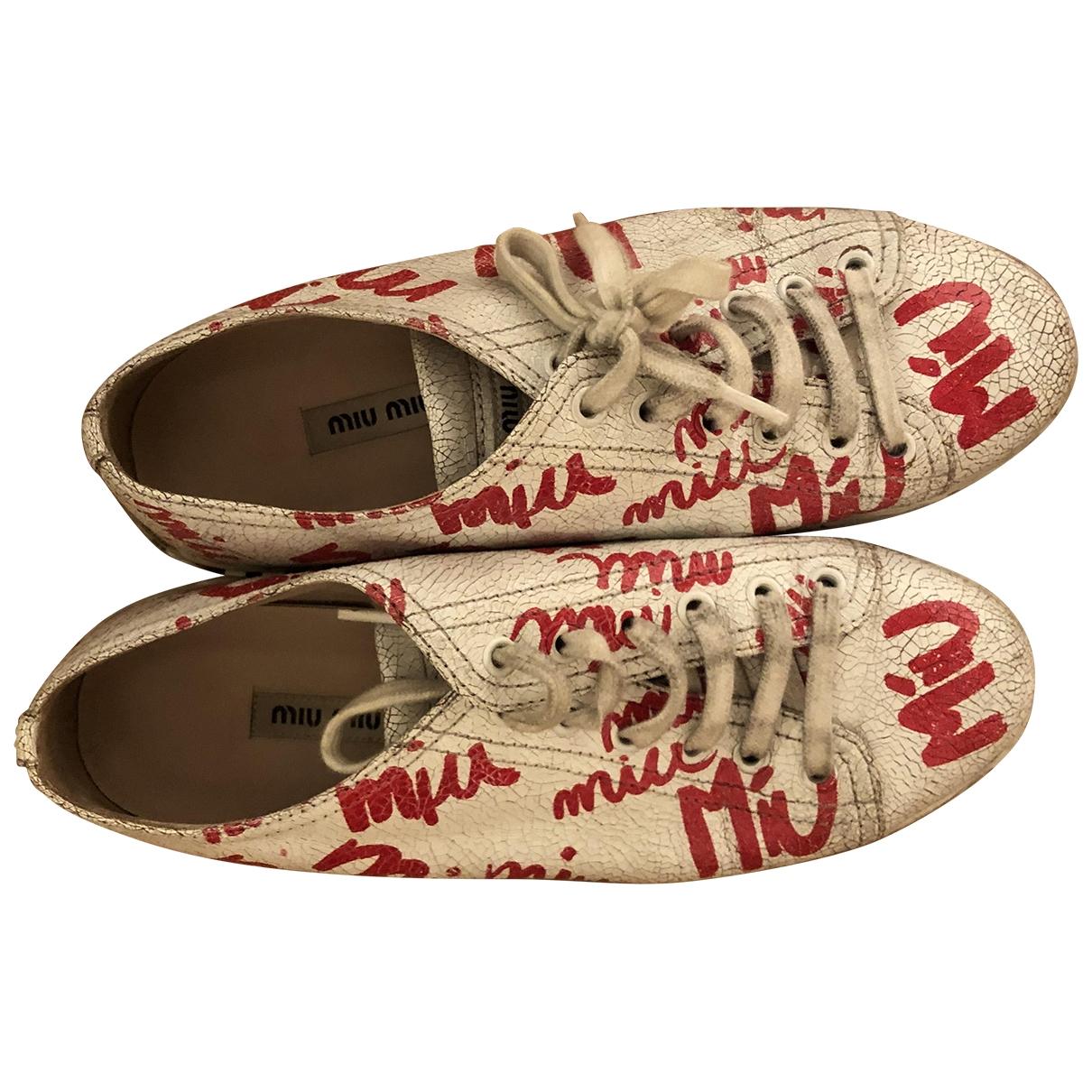 Miu Miu \N Sneakers in  Weiss Kautschuk