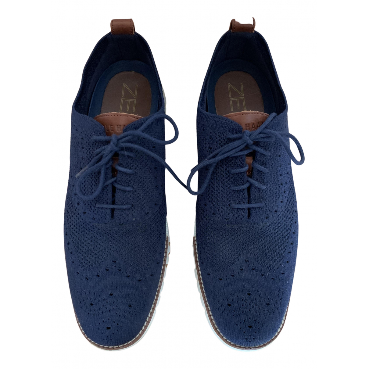 Cole Haan N Navy Leather Flats for Men 10 US