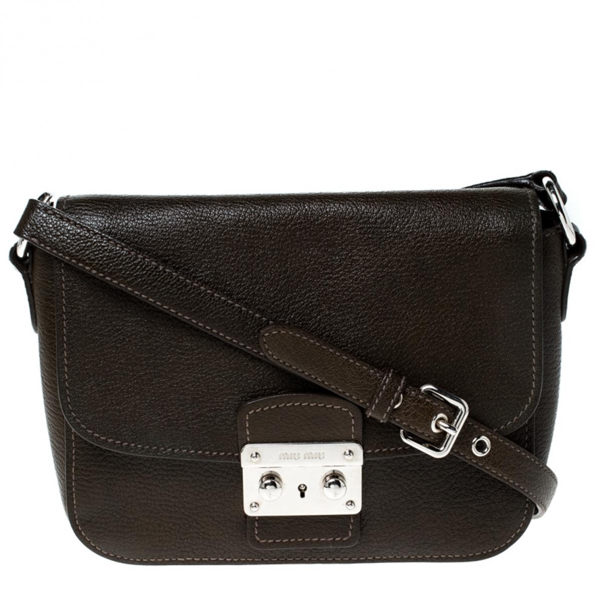 Miu Miu \N Green Leather handbag for Women \N