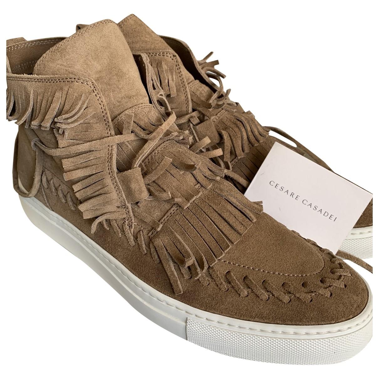 Casadei \N Beige Leather Lace ups for Men 44.5 EU