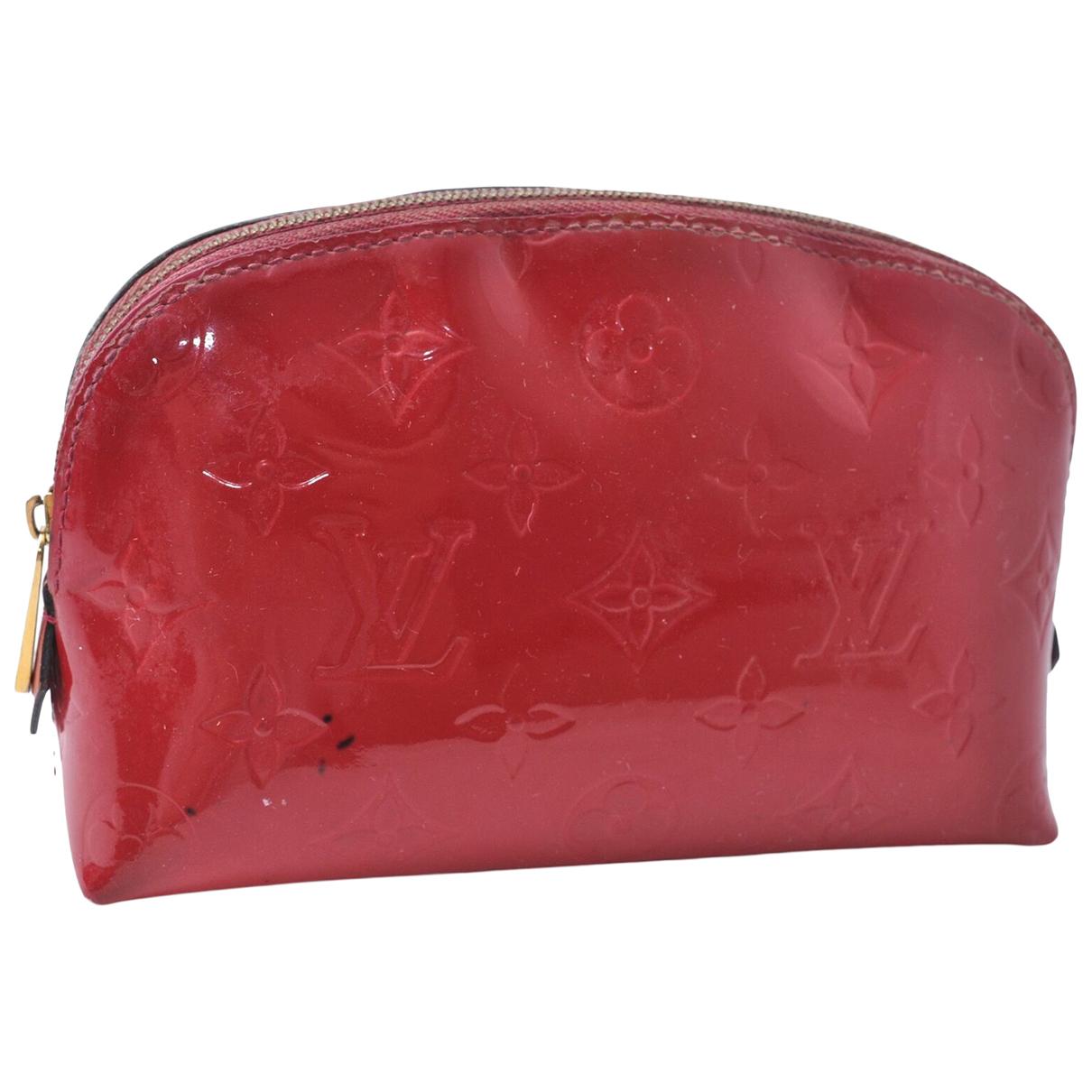 Louis Vuitton - Pochette   pour femme en cuir verni - rouge
