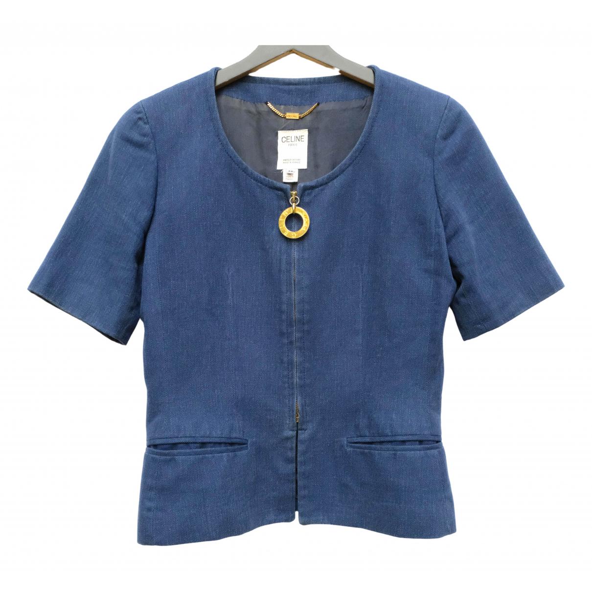 Celine - Veste   pour femme en denim - bleu