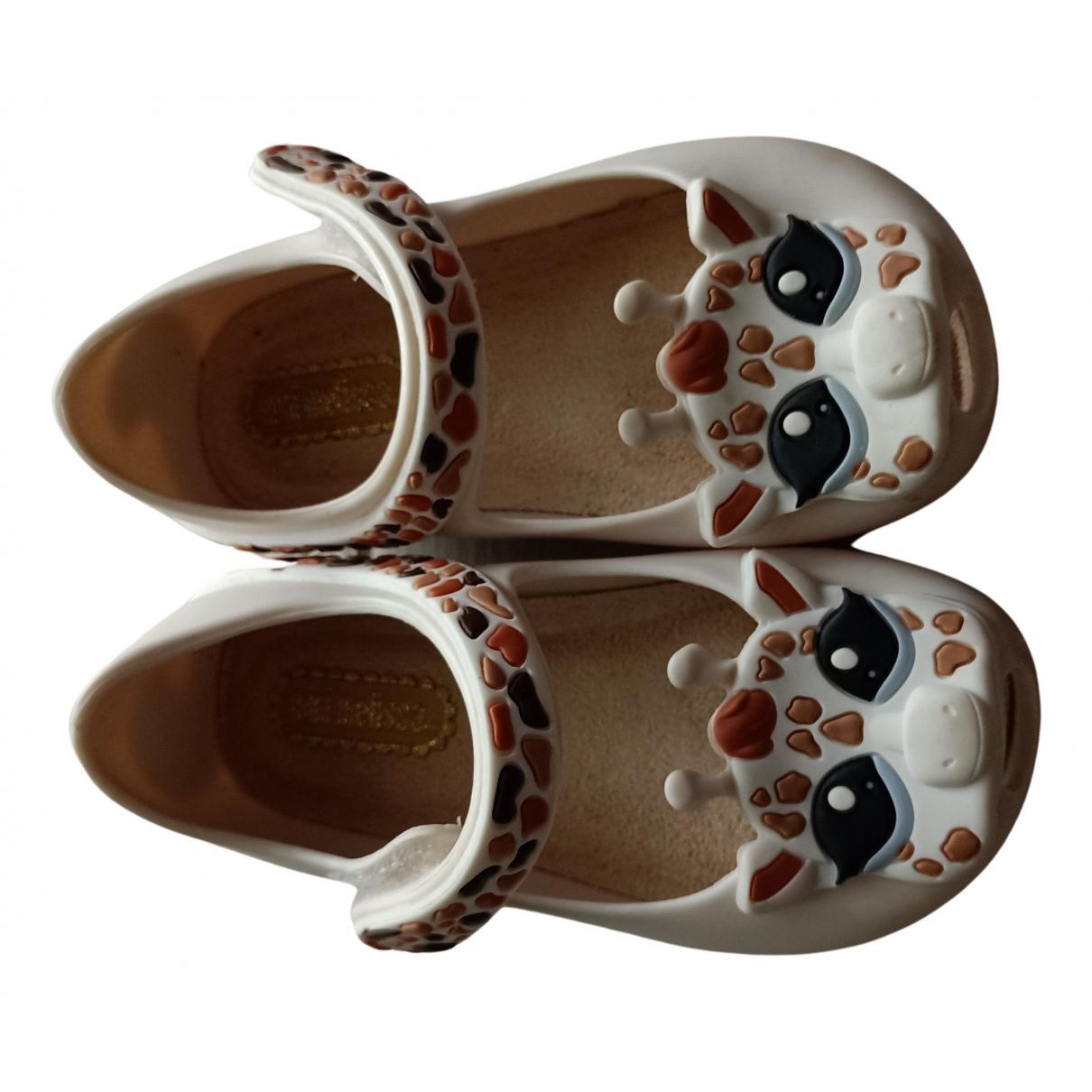 Melissa N White Rubber Ballet flats for Kids 4.5 UK