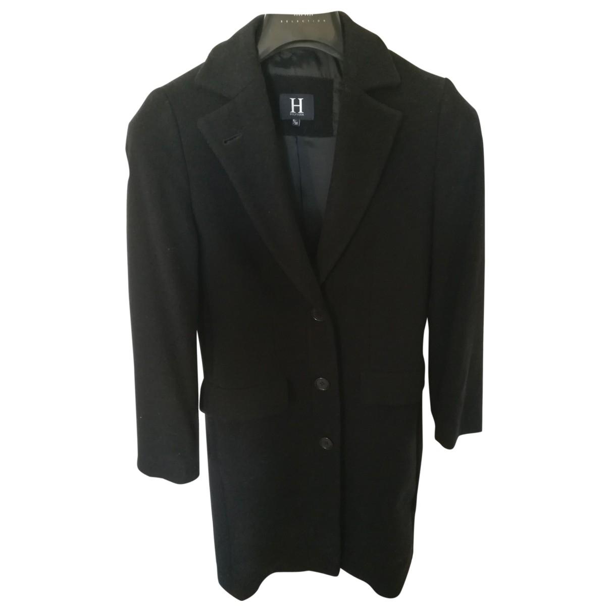 Tommy Hilfiger \N Black Wool coat for Women 36 FR