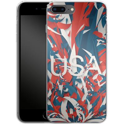 Apple iPhone 7 Plus Silikon Handyhuelle - Colorful USA von Danny Ivan
