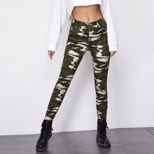 Push Up Skinny Camo Jeans