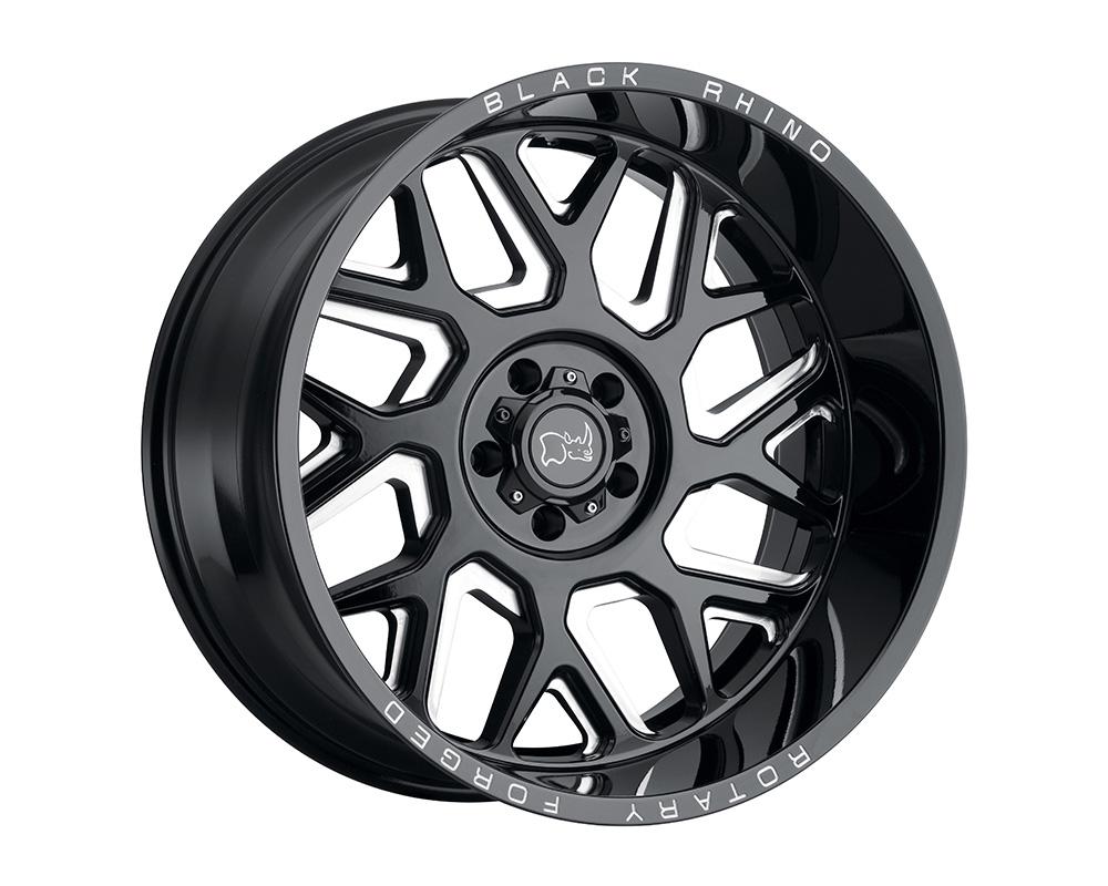Black Rhino Reaper Wheel 20x9.5  5x127 -18mm Gloss Black w/Milled Spokes