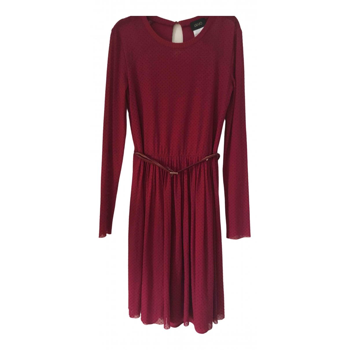 Liu.jo \N Kleid in  Bordeauxrot Synthetik
