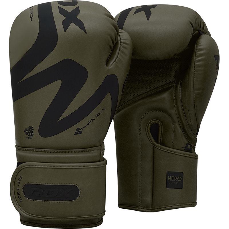 RDX F15 Matte Green 10oz Boxing Training Gloves Hook and Loop Men and Women Punching Muay Thai Kickboxing