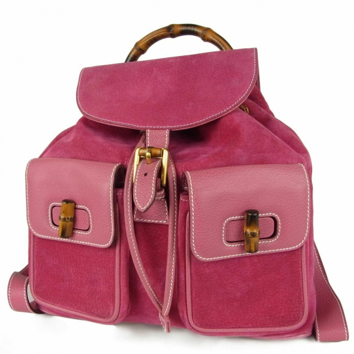Gucci \N Pink Suede backpack for Women \N