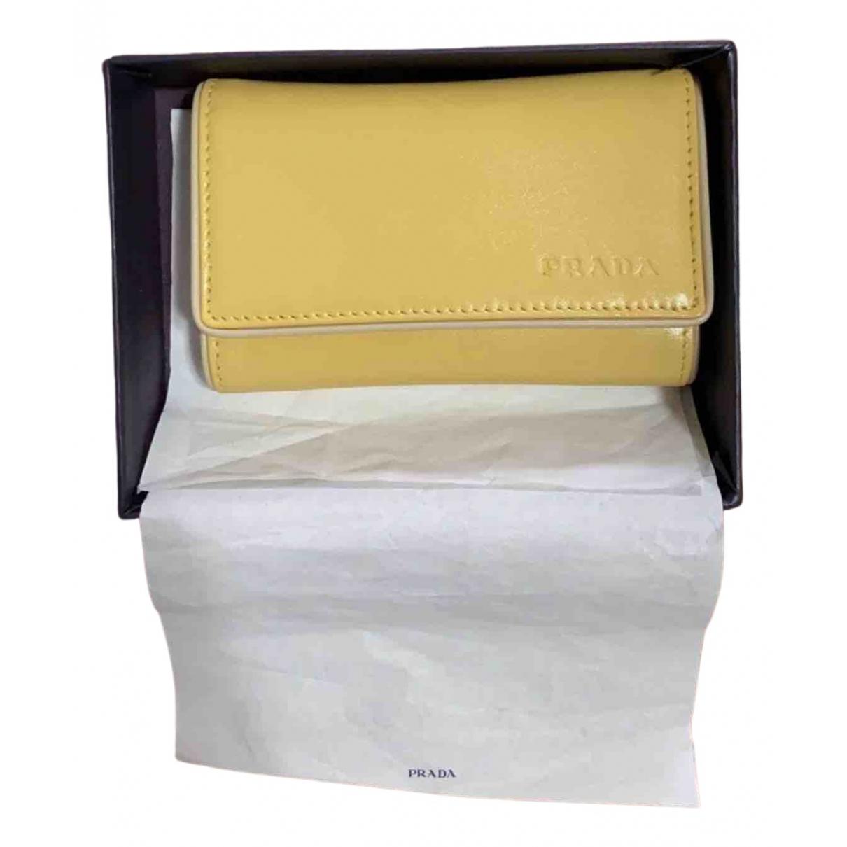 Prada - Petite maroquinerie   pour femme en cuir - jaune