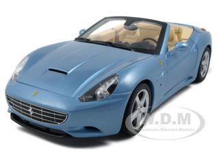 Ferrari California Diecast Car Model 1/18 Blue Die Cast Car by Hotwheels