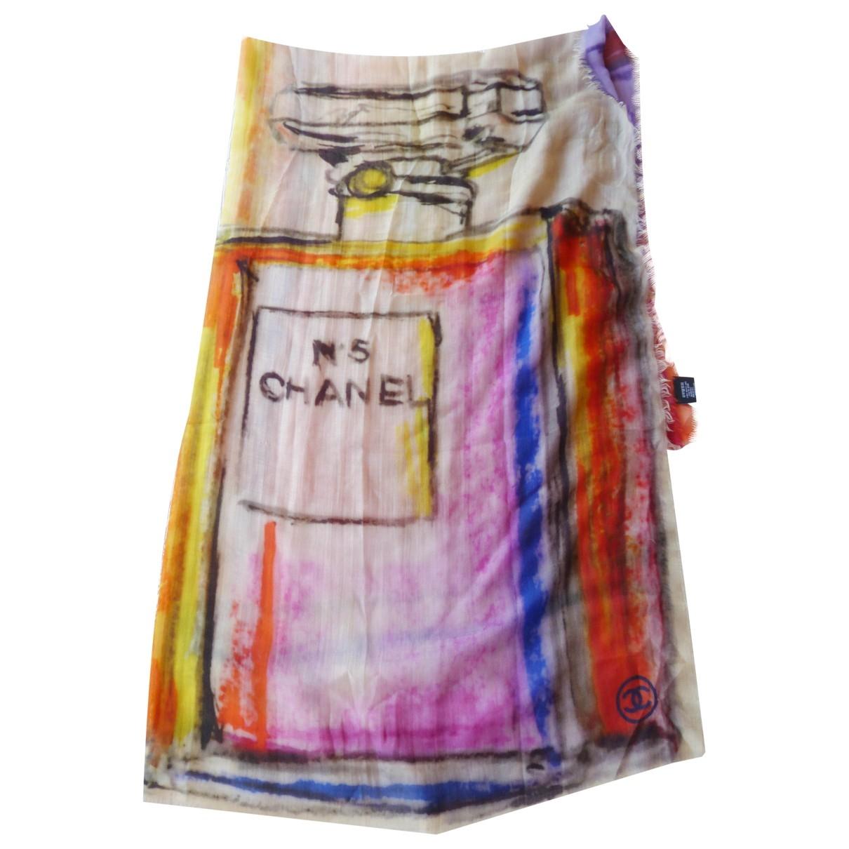 Chanel \N Schal in  Bunt Kaschmir