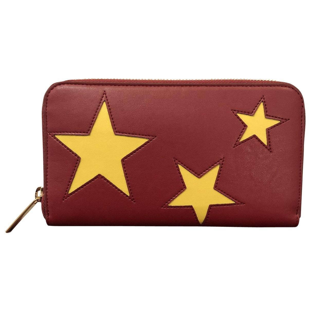 Stella Mccartney - Portefeuille   pour femme en toile - rouge