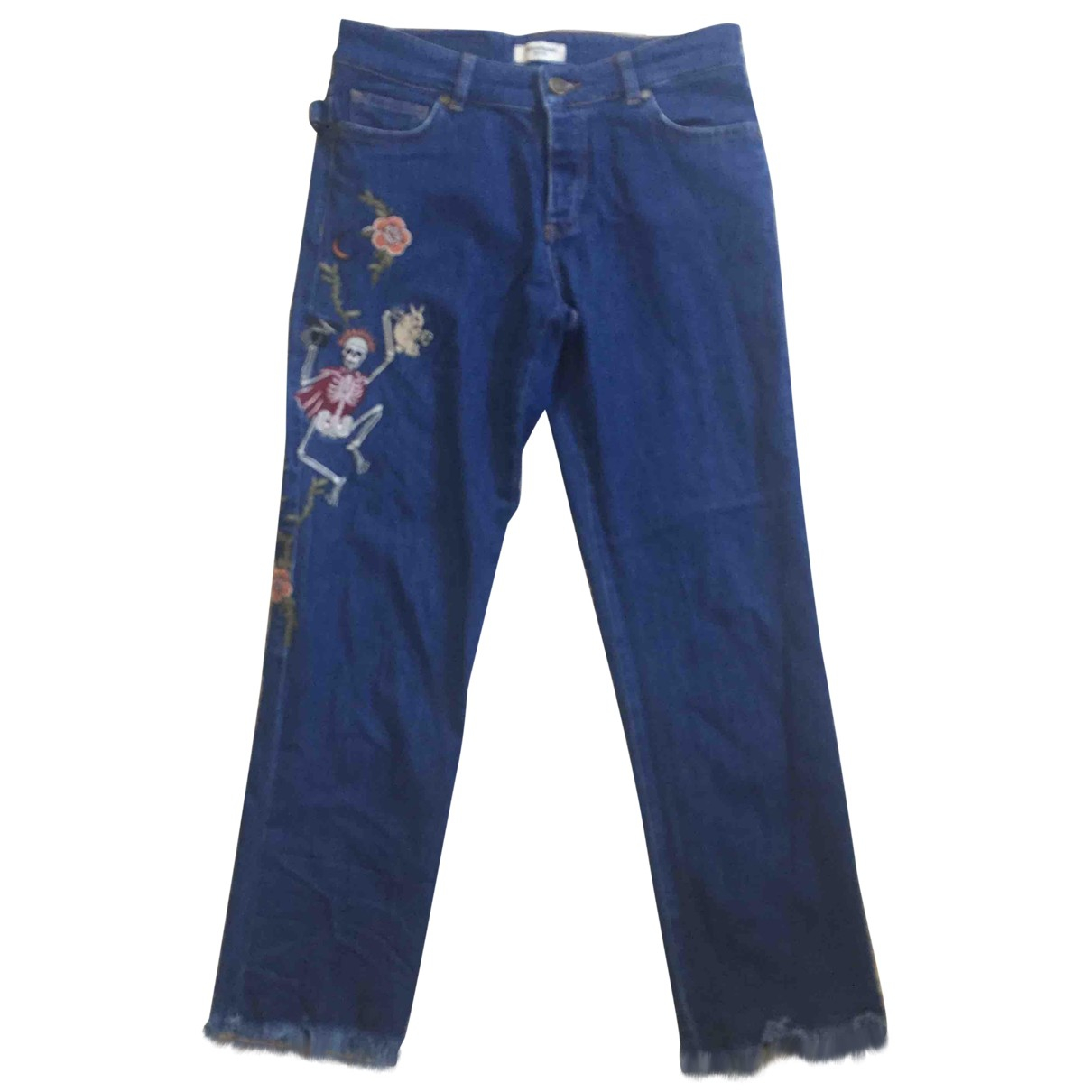 Zadig & Voltaire \N Blue Cotton - elasthane Jeans for Women 25 US