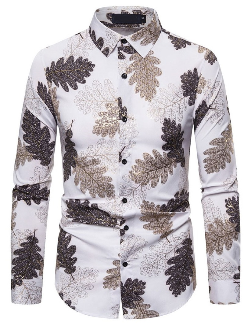Ericdress Print Plant Casual Single-Breasted Shirt
