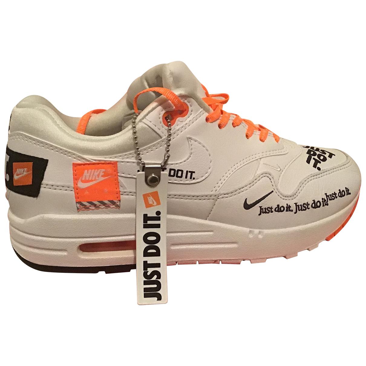Nike Air Max 1 Sneakers in  Weiss Leder