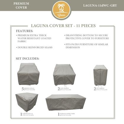 LAGUNA-11dWC-GRY Protective Cover Set  for LAGUNA-11d in
