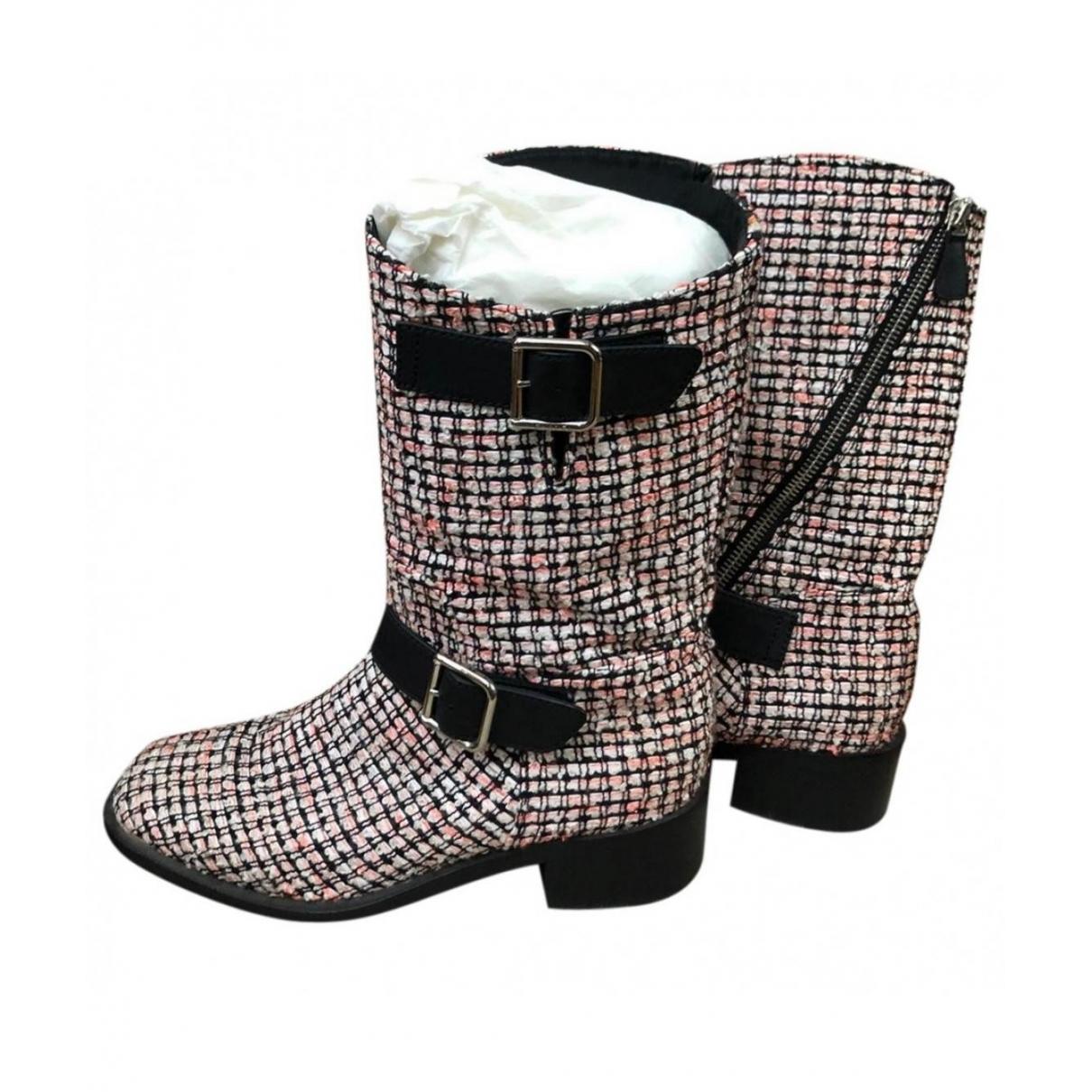 Chanel \N Stiefel in  Bunt Leinen