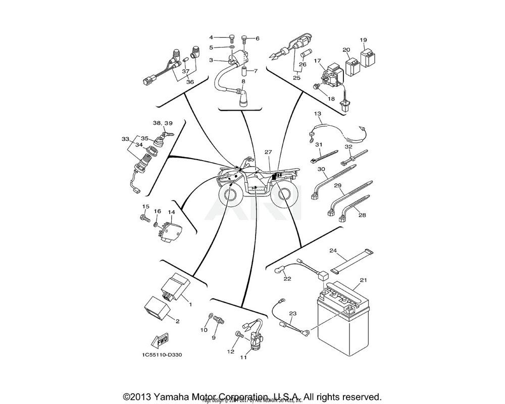 Yamaha OEM 29U-81950-93-00 RELAY ASSY (ACA12115-1)