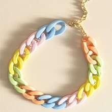 Color Block Chain Choker