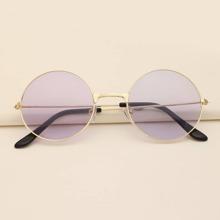 Sonnenbrille mit rundem metallischem Rahmen