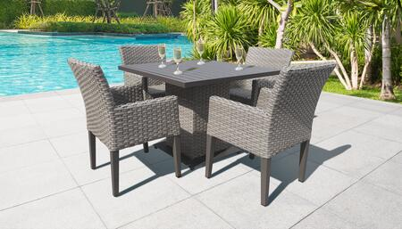 Monterey Collection MONTEREY-SQUARE-KIT-4DC Patio Dining Set with 1 Table   4 Arm Chairs - No