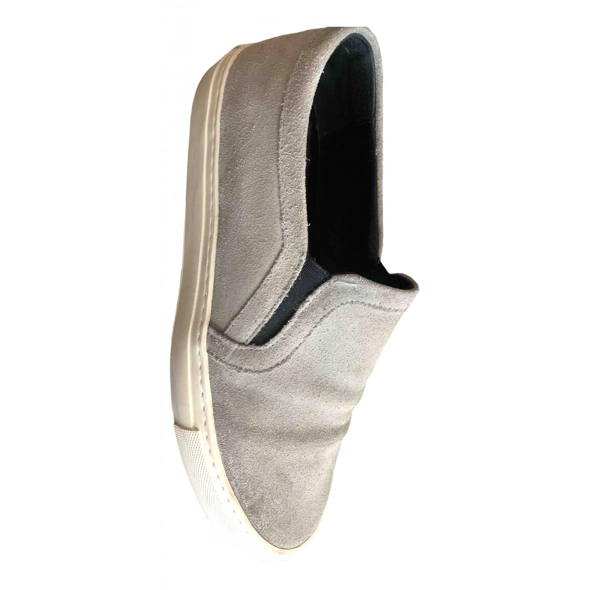 Sandro - Baskets   pour homme en suede - gris