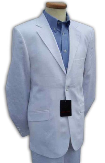 Mens White Linen Designer Wedding Dress Suit