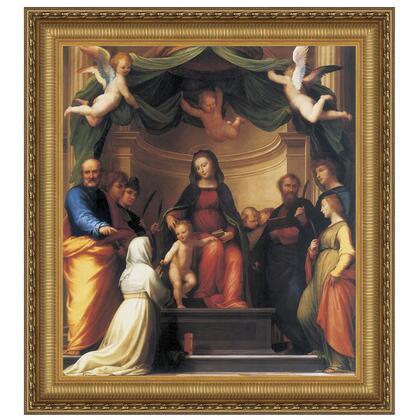 DA2833 32X35 Mystic Marriage Of St
