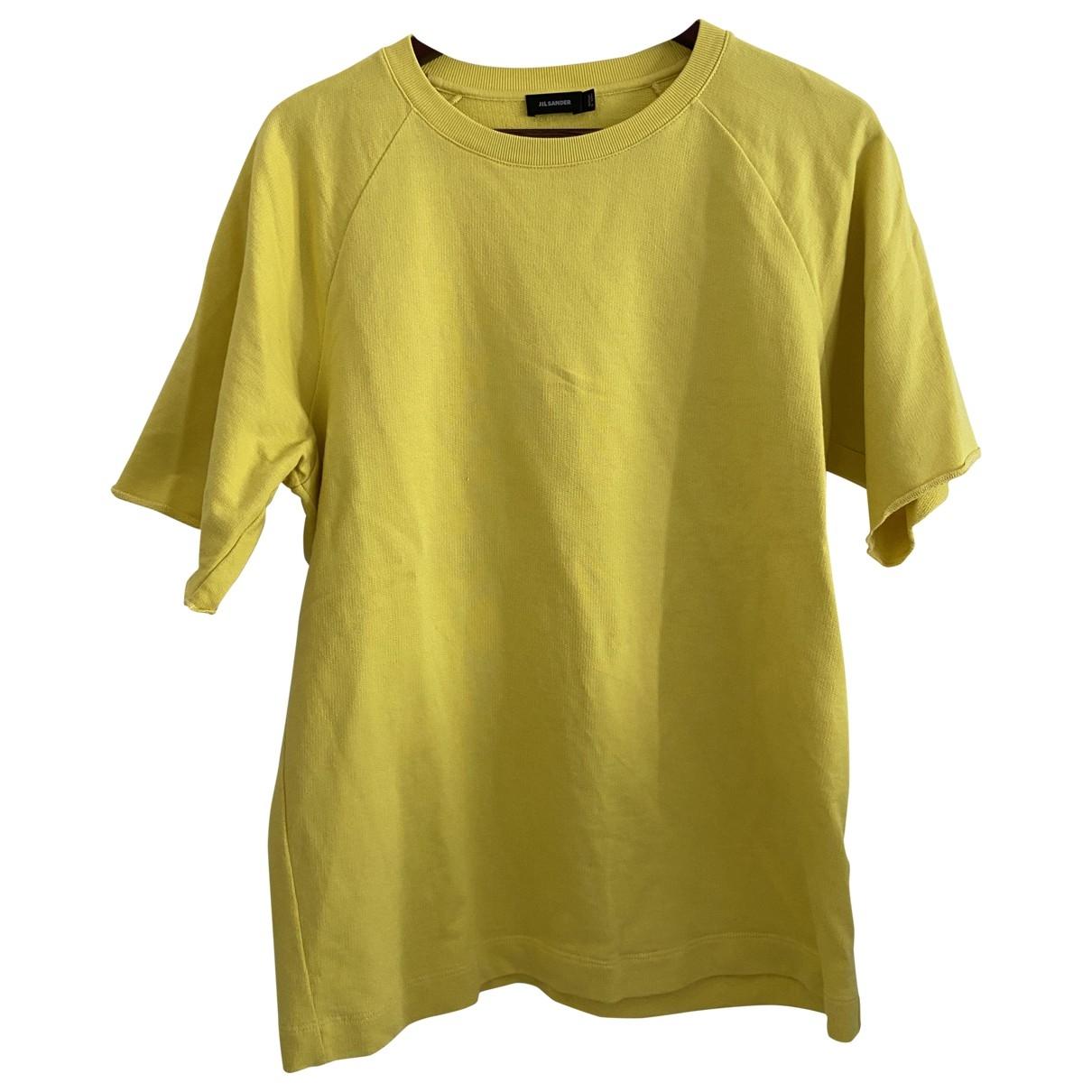 Jil Sander - Tee shirts   pour homme en coton - jaune