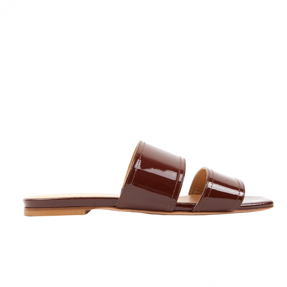 Aeyde \N Sandalen in  Braun Lackleder