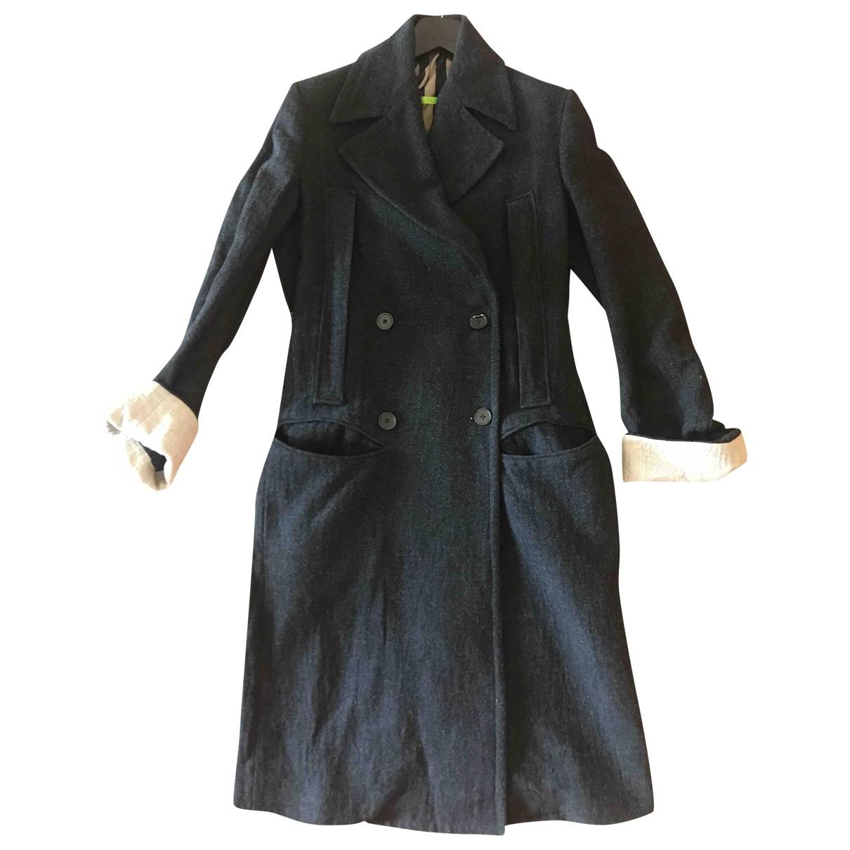 Ann Demeulemeester \N Maentel in  Grau Tweed