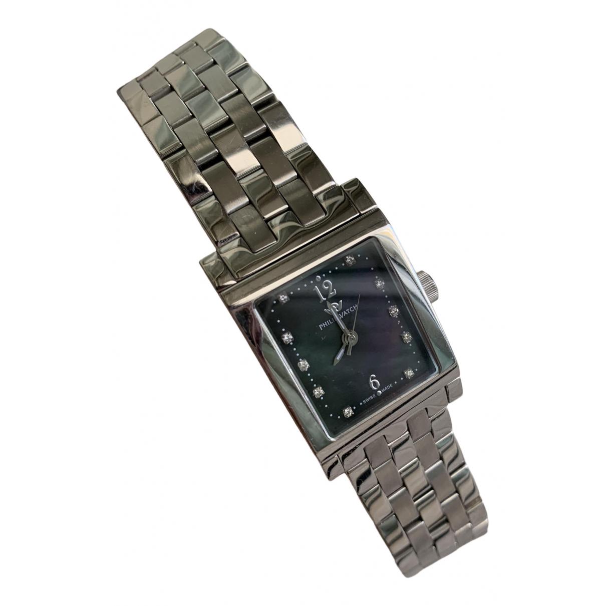 Philippe Watch \N Uhr in  Silber Stahl