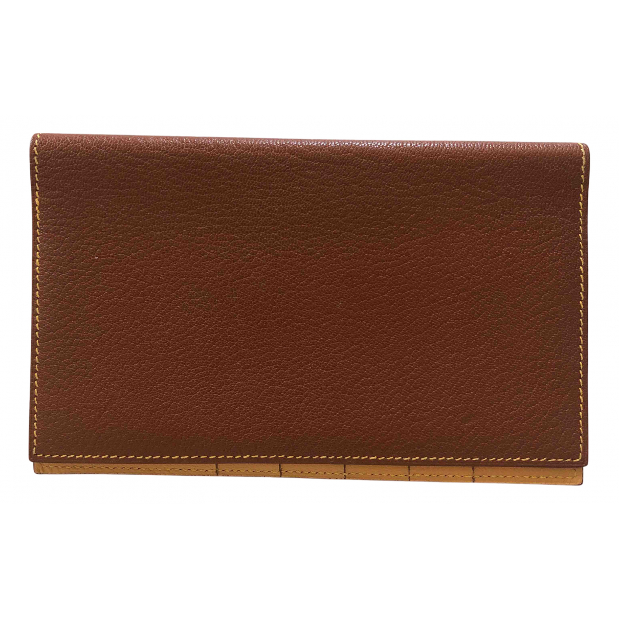 Hermès N Brown Leather Small bag, wallet & cases for Men N