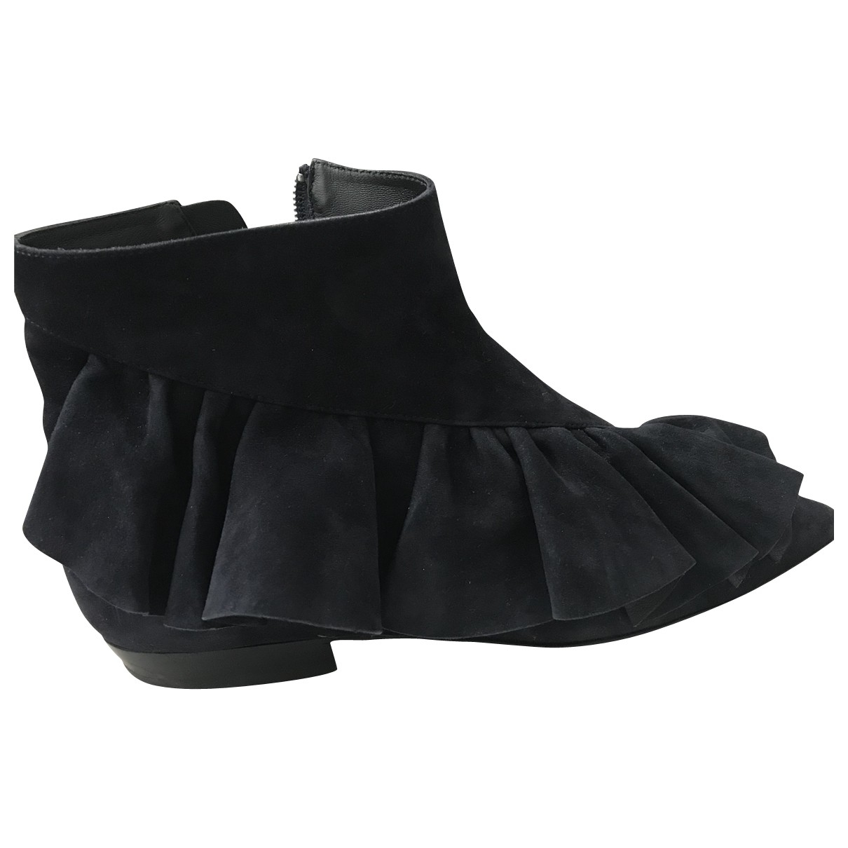 J.w. Anderson \N Blue Suede Ankle boots for Women 38 EU